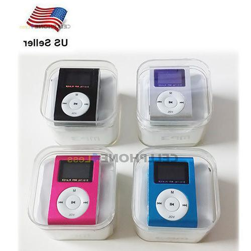 MP3 Music Player With Digital LCD Screen Mini Clip Support 3
