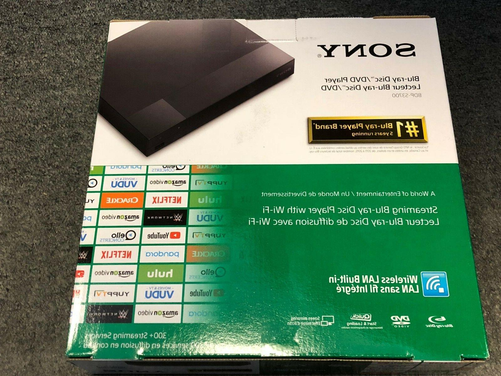 NEW Sony BDP-S3700 Blu-Ray Player with 1080p HD Resolution &