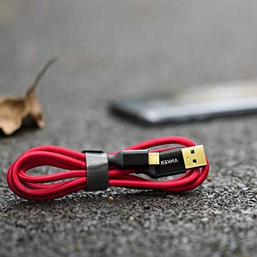 Anker 3ft Nylon Tangle-Free USB Connectors for Android, HTC, Sony More