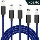 WSCSR Phone Cable 5-Pack , Nylon Braided Cord High Spee...