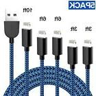 TNSO Phone Cable 5Pack  Nylon Braided USB Charging & Syncing