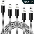 WUXIAN Phone Cable 5Pack 3FT 3FT 6FT 6FT 10T FNylon Braided