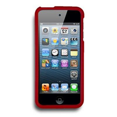 CoverON Fit Series For Touch 6/5 Hard Rubberized Cover / 5th - Red