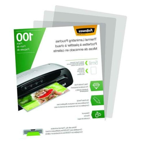 Fellowes Thermal Laminating Pouches, 100