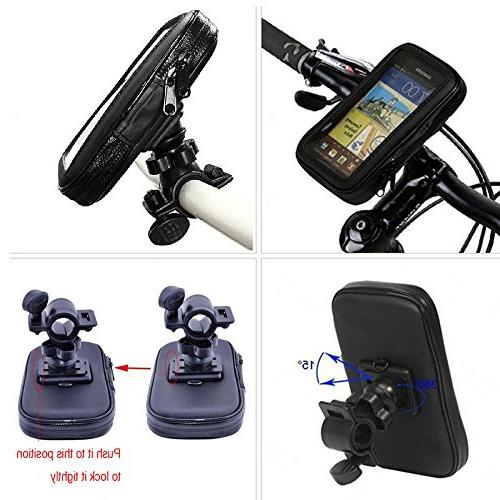 360 Rotation Bicycle GPS Cell Phone Mount Holder Waterproof Case for Samsung Note 4