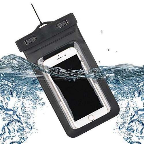 Gzerma Inch Ipx8 Certified PVC Screen Swimming Waterproof Bag a for Iphone 6s Black