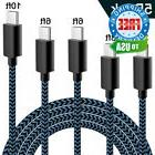 USB Type C Cable,WUXIAN 5Pack  Nylon Braided with Long Cable