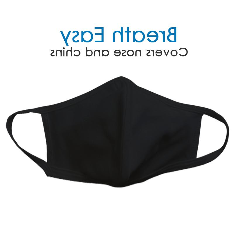 Washable Mask Black 10 in Pack, MADE USA