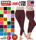 WOMEN SEAMLESS ONE SIZE STRETCH SPANDEX YOGA PANTS OPAQUE CA