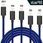 WSCSR Phone Cable 5-Pack , Nylon Braided Cord High Speed S