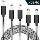 WSCSR Phone Charger 5 Pack 8 Pin Fast Charging Cable Nylon B