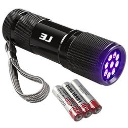 LE Small UV Flashlight, Portable Black Light with 9 LEDs, 39
