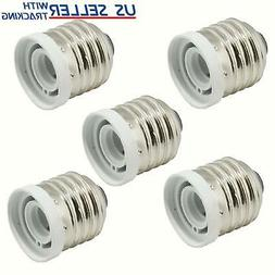 5-Pack Light Bulb Socket Adapter Medium Base E26 to Candelab