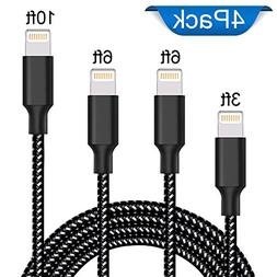 Lightning Cable, Liwin iPhone Charger Cables 4Pack 3FT 6FT 6