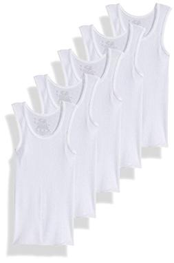 Fruit of The Loom Little Boys' A-Shirt  ,White,4T/5T
