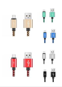 Lot 6 Pack 6 Ft USB Cable Heavy Duty Fits iPhone X 8 7 6 5 C