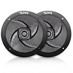Pyle Marine Speakers - 5.25 Inch Low Profile Slim Style Wate