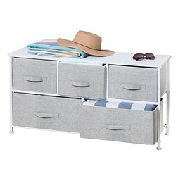 mdesign fabric 5 drawer storage