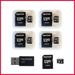 Memory 16GB Micro SDHC 5 Pack W Card Reader PSF16GMCSD5PKCM