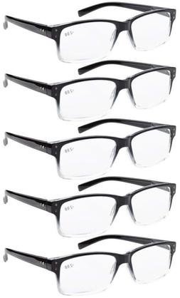 Men 5-pack Spring Hinges Vintage Reading Glasses Includes Su