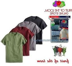 Fruit of the Loom® Men's  Cotton Pocket Tees in Assorted Co