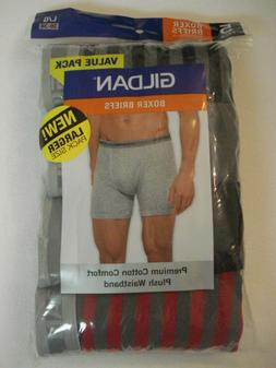 Gildan Men's 5 Pack Boxer Briefs NEW Size Large 36-38 Premiu
