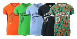 Men's 5 Pack Short Sleeve V-Neck Graphic T-Shirt Casual Chil