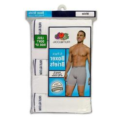 Fruit of the Loom Men's 5-Pack White Boxer Briefs Size S
