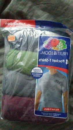 Fruit of the Loom Men's Pocket T-Shirt 5 Pack Size XL 100% c