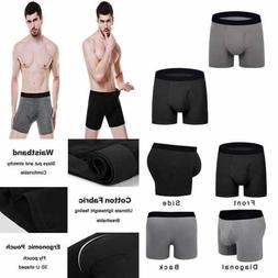 Aserlin Men's Underwear 5 Pack Regular Legs Cotton Mens Boxe