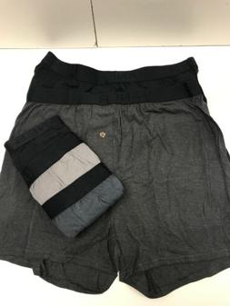HANES MENS 5-PACK ULTIMATE DYED EXPOSED WAISTBAND KNIT BOXER