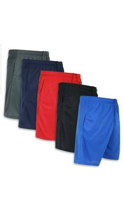 Real Essentials Mens Active Athletic Performance Shorts with