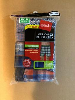 Hanes Mens Comfort Flex Waistband 5-pack Woven Boxers Cotton