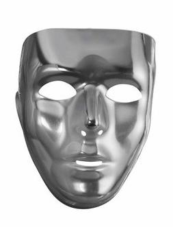 Mens Male Full Face Mask Blank Plastic Mardi Gras Costume Ac