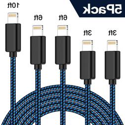 TNSO MFi Certified Phone Cable 5Pack 3FT 6FT 10FT Extra Long