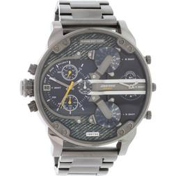 Diesel Men's Mr. Daddy DZ7331 Gunmetal Stainless-Steel Quart