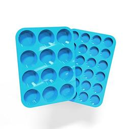 Silicone Muffin and Cupcake Pans – Set of 2 | Cake Molds |