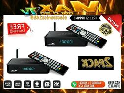 !!!NEW!! 2 PACK OF MAX TV GOLD 5G 4K ULTRA-HD BOX+ANDROID 7.
