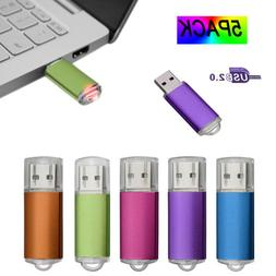 NEW 5 Pack/Lot USB Flash Drive 1GB-32GB Memory Sticks Storag