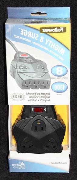 NEW In Box FELLOWES Mighty 8-Outlet Surge Protector, 6ft MPN