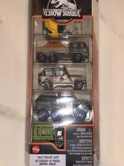 NEW SEALED 2020 Matchbox Jurassic World Park 5-PACK Total Tr