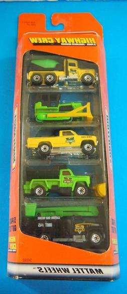 NOS Sealed 1997 Matchbox Highway Crew 5 Pack Gift Set #34392