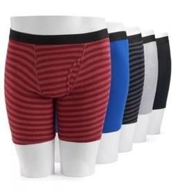 NWT Men's Fruit of the Loom 5-Pack Boxer Briefs - Retails fo