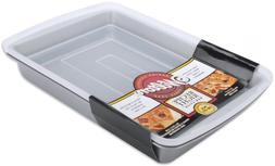 """Wilton 9x13"""" Oblong Baking Pan with Cover Plastic Lid Non St"""