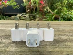 Original iPhone Charger 5 Pack USB Home Charger Cube Wall Ad