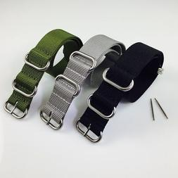 PACK OF 3 Ballistic Army Military Nylon 5 Ring Watch Band St