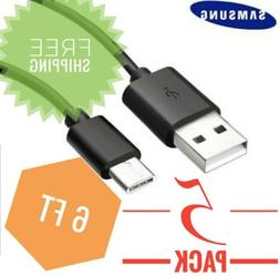PACK OF 5 Type-C Cable 6ft USB fast charging cable for Samsu