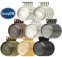 Bastex 40 Piece Pendant Trays. 8 Different Colors with a Rou