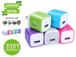 5 Pack Wall Charger USB Plug Charging Block 1 Amp Phone Char