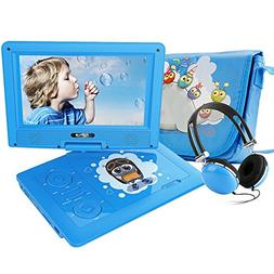 """FUNAVO 9.5"""" Portable DVD Player with Headphone, Carring Case"""